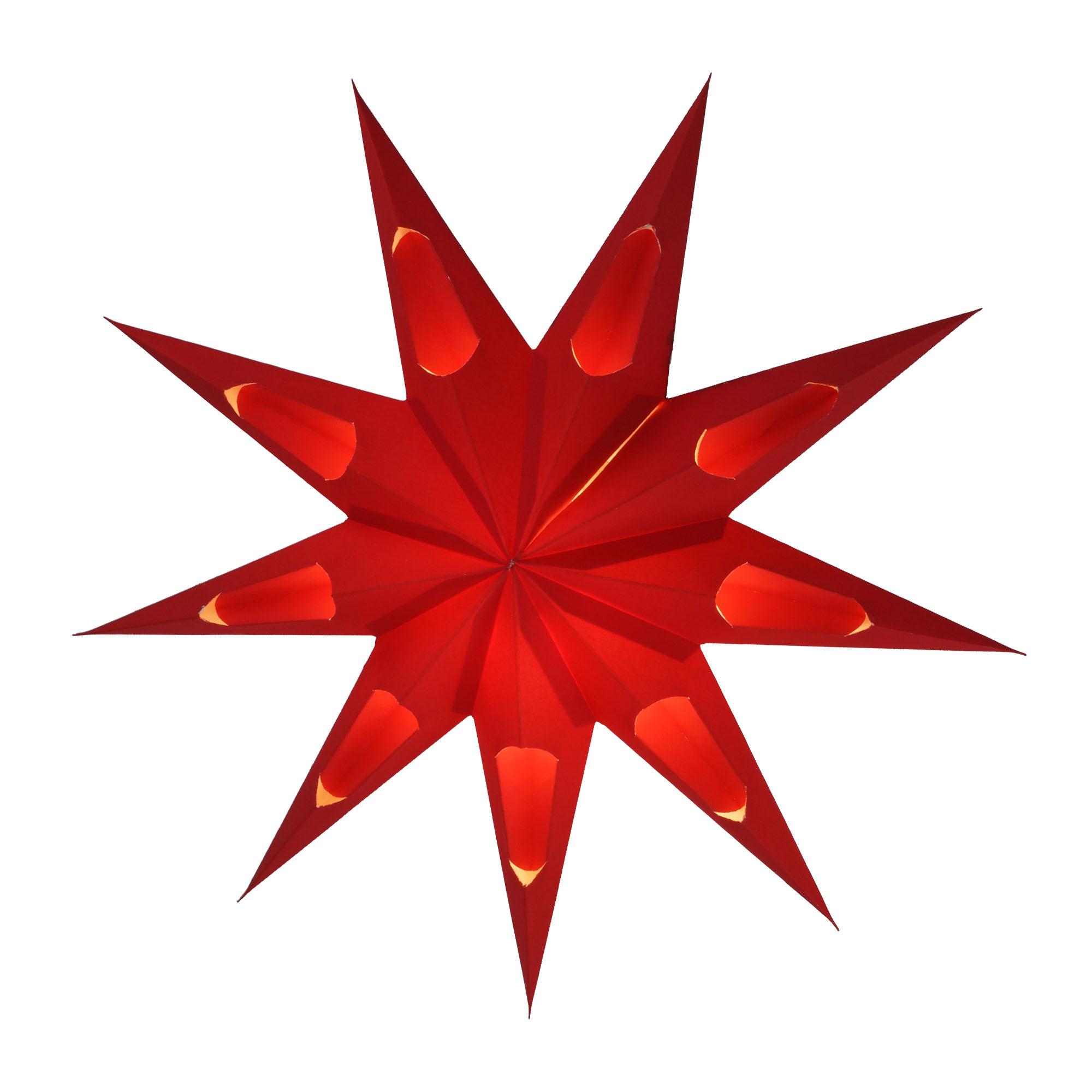 Faltbarer Advents Leucht Papierstern, Weihnachtsstern Aquarius ...